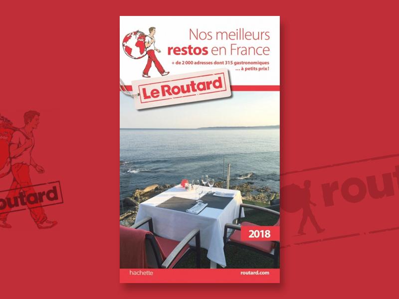 La Réserve Gayrard en couverture du Guide du Routard des meilleurs restos en France 2018